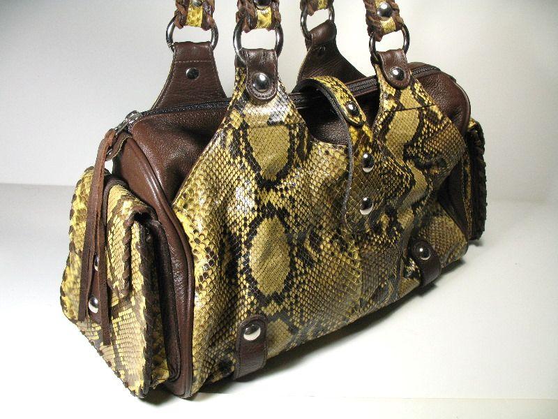 Sharif Genuine Snakeskin Handbag