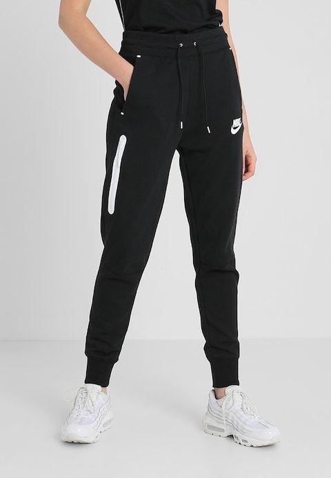 Nike Sportswear Jogginghose Black Black White Zalando De Jogginghosen Nike Jogginghose Damen Jogginghose