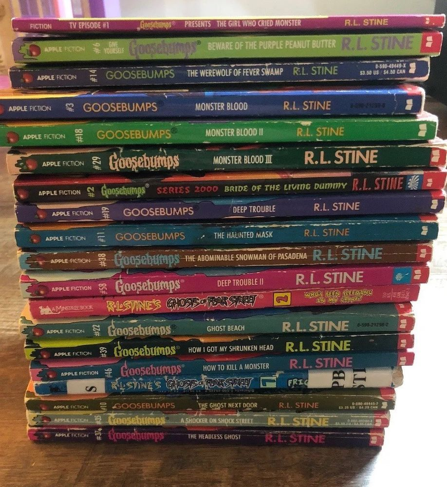 Prime Goosebumps Paperback Books R L Stine Lot Of 19 On The Download Free Architecture Designs Embacsunscenecom