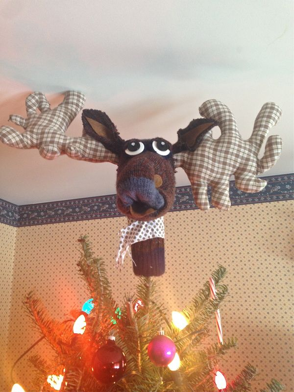 Merry Christ Moose Tree Topper Mer Air And Mer Christmas Tree