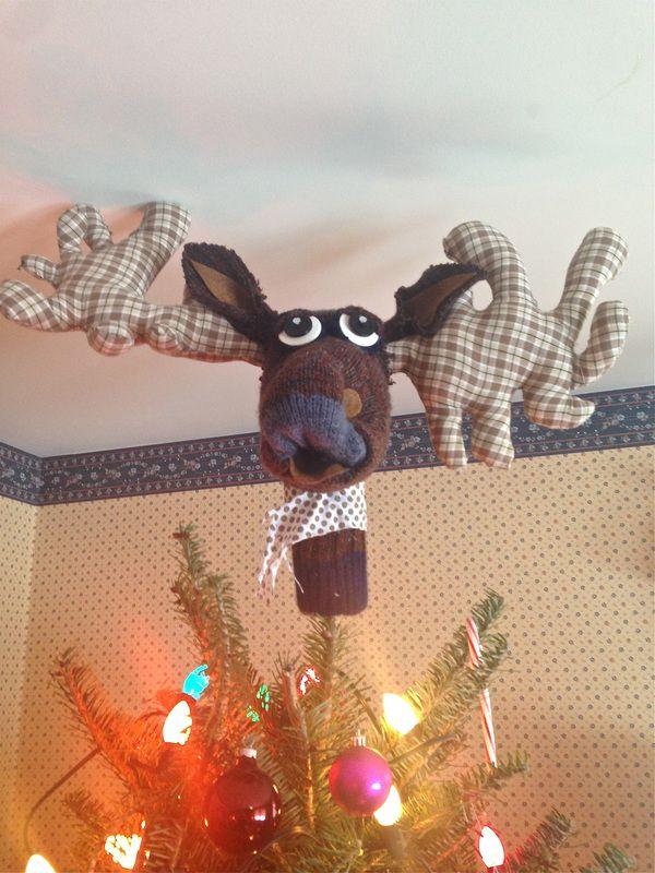 Merry Christ-Moose! Tree Topper ~Mer | Air and Mer | Pinterest ...