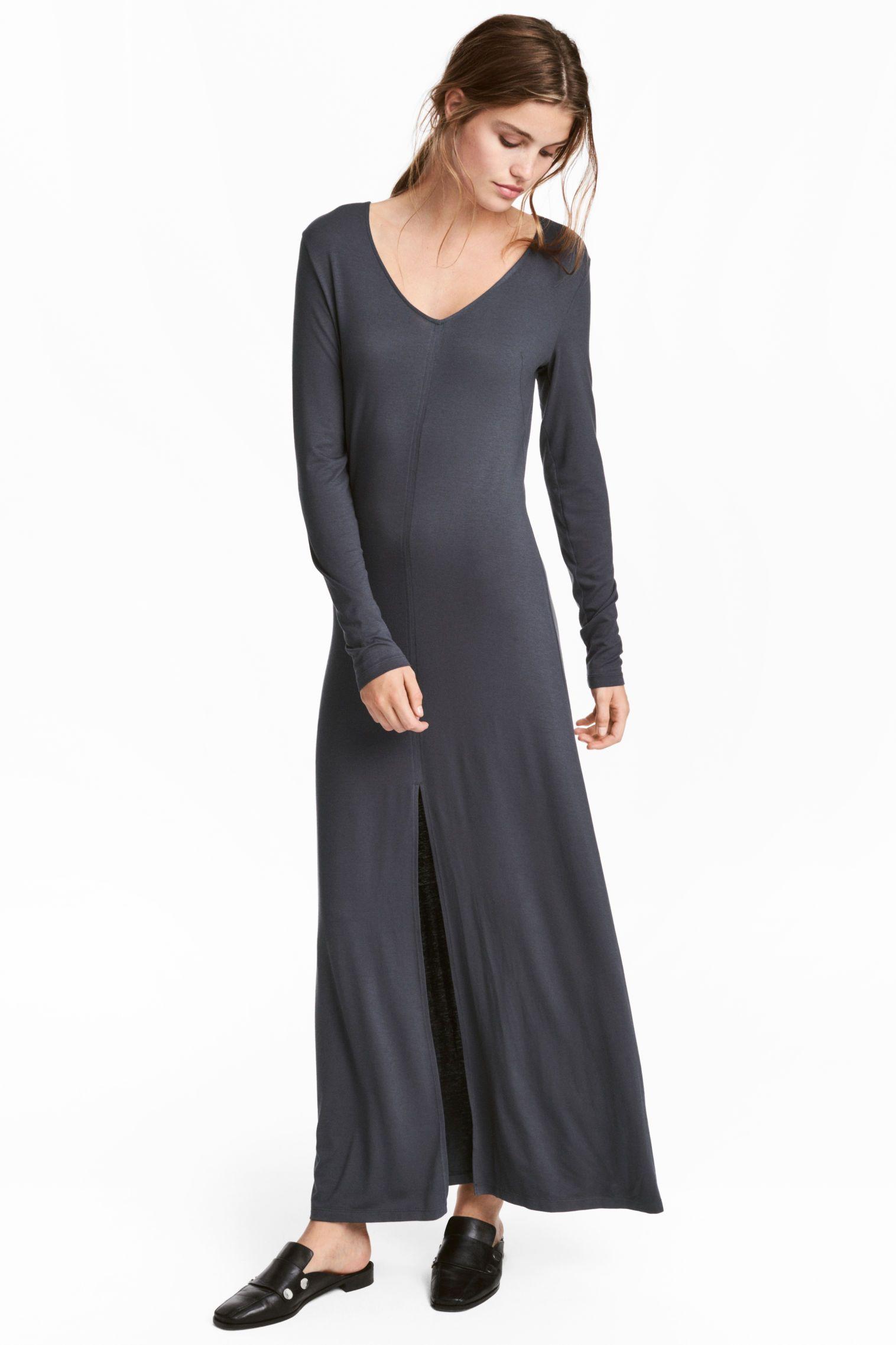 jersey maxi jurk