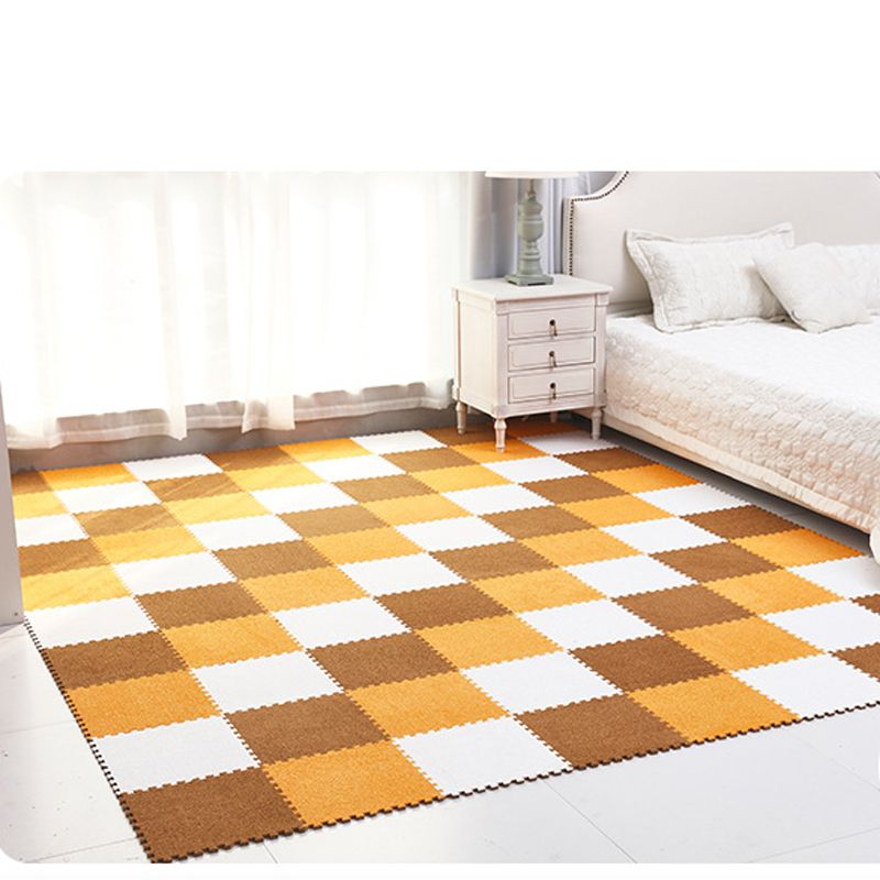 Suede Foam Puzzle Play Mat Interlocking Baby Exercise Floor