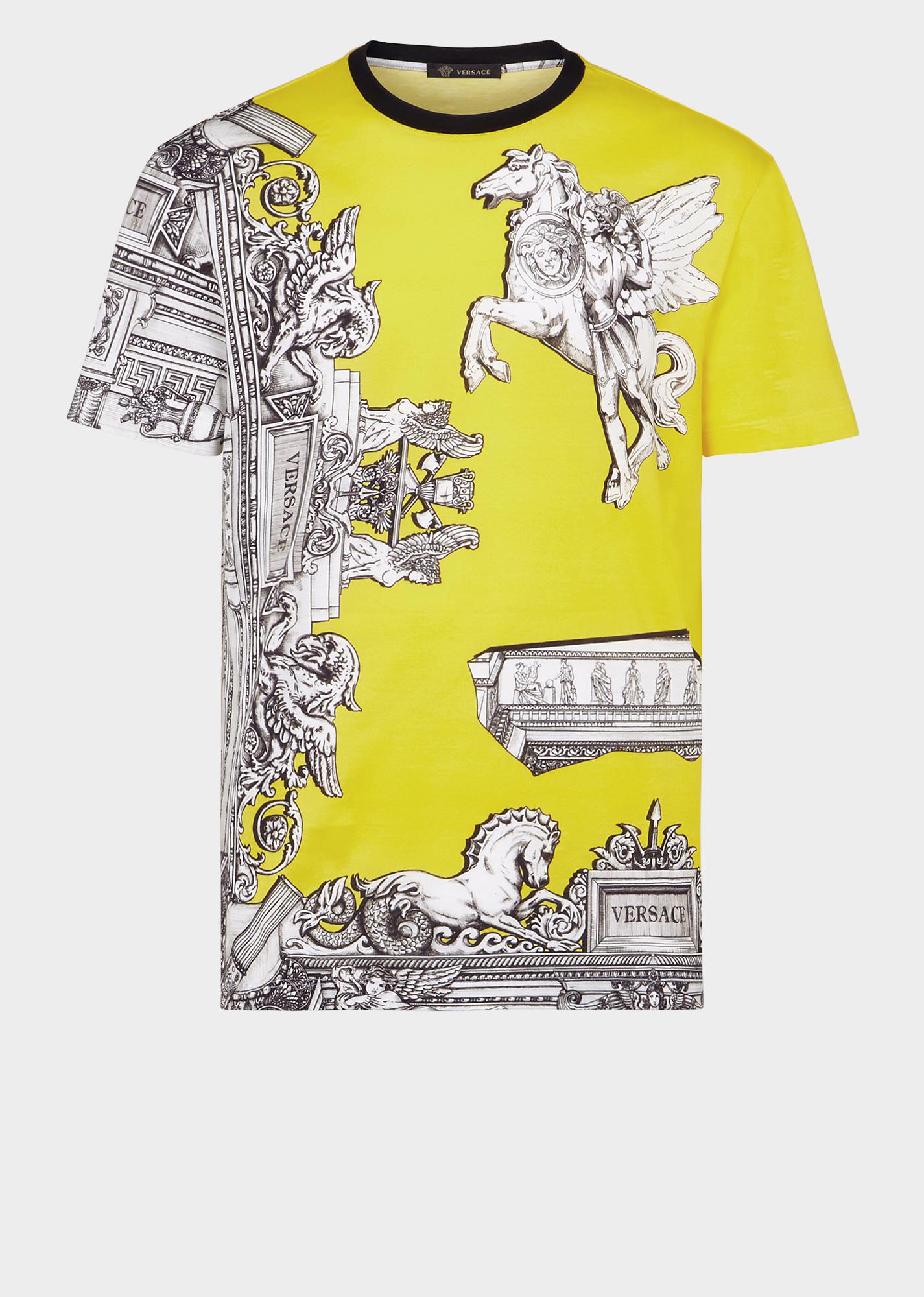 891a08e293 VERSACE Sustainable Pegasus Print Slim Fit T-Shirt. #versace #cloth ...