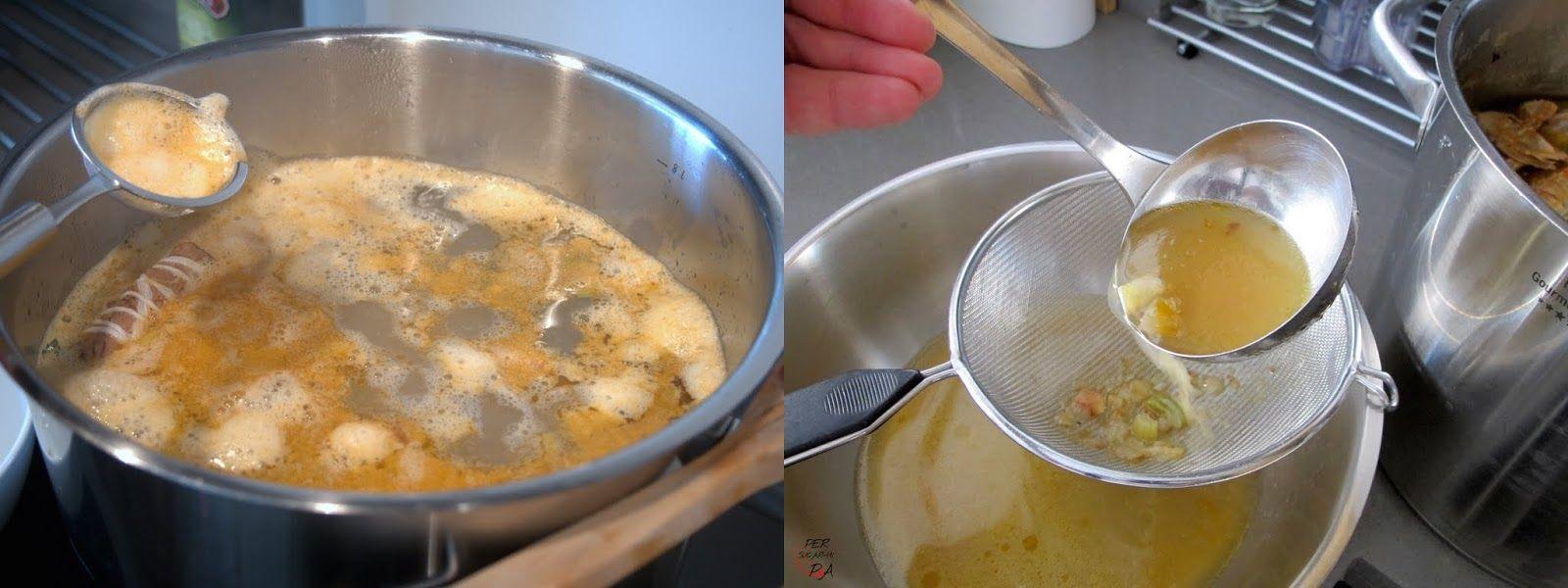 El fumet, o caldo de pescado, es una de las preparaciones básicas en cocina con un montón de aplicaciones: sopas, guisos marineros, paell...