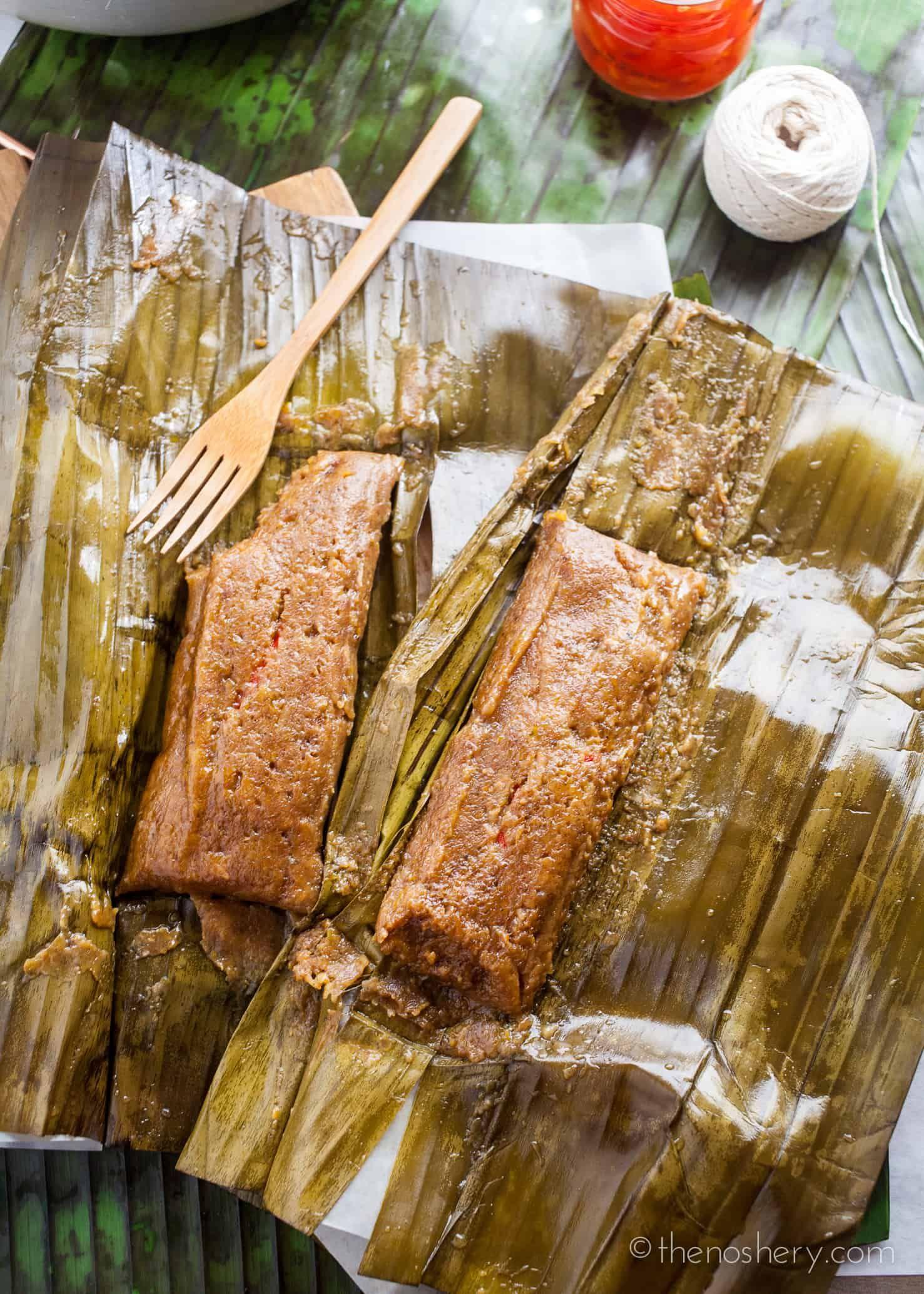 Pasteles De Masa Con Cerdo Puerto Rican Taro Root