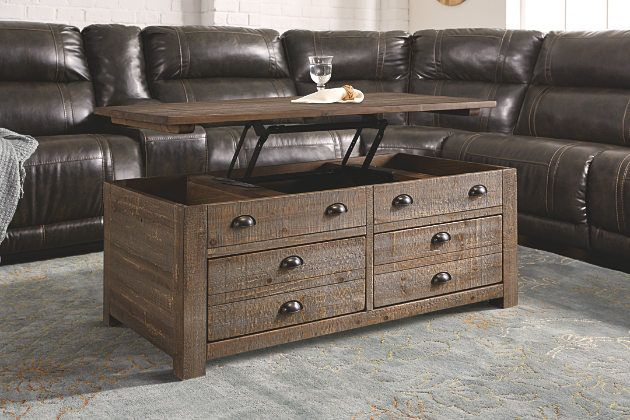 Grayish Brown Keeblen Lift Top Coffee Table From Ashley Furniture Home