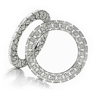 A Pair of Diamond and Platinum Bangles, by Bhagat.