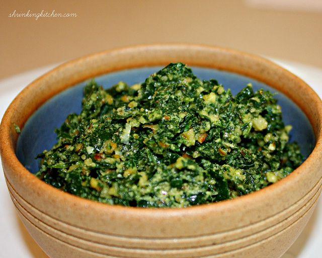 kale pesto by shrinkingkitchen, via Flickr