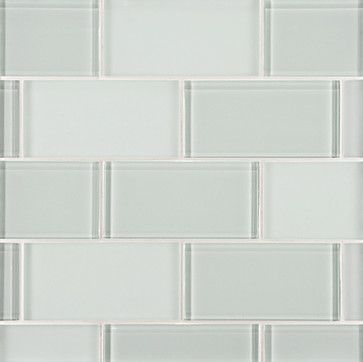 Lucian Glass Tile - Ann Sacks Tile & Stone This is such a perfect color for tile in a bathroom - it's like the color of water in a tub, so s...