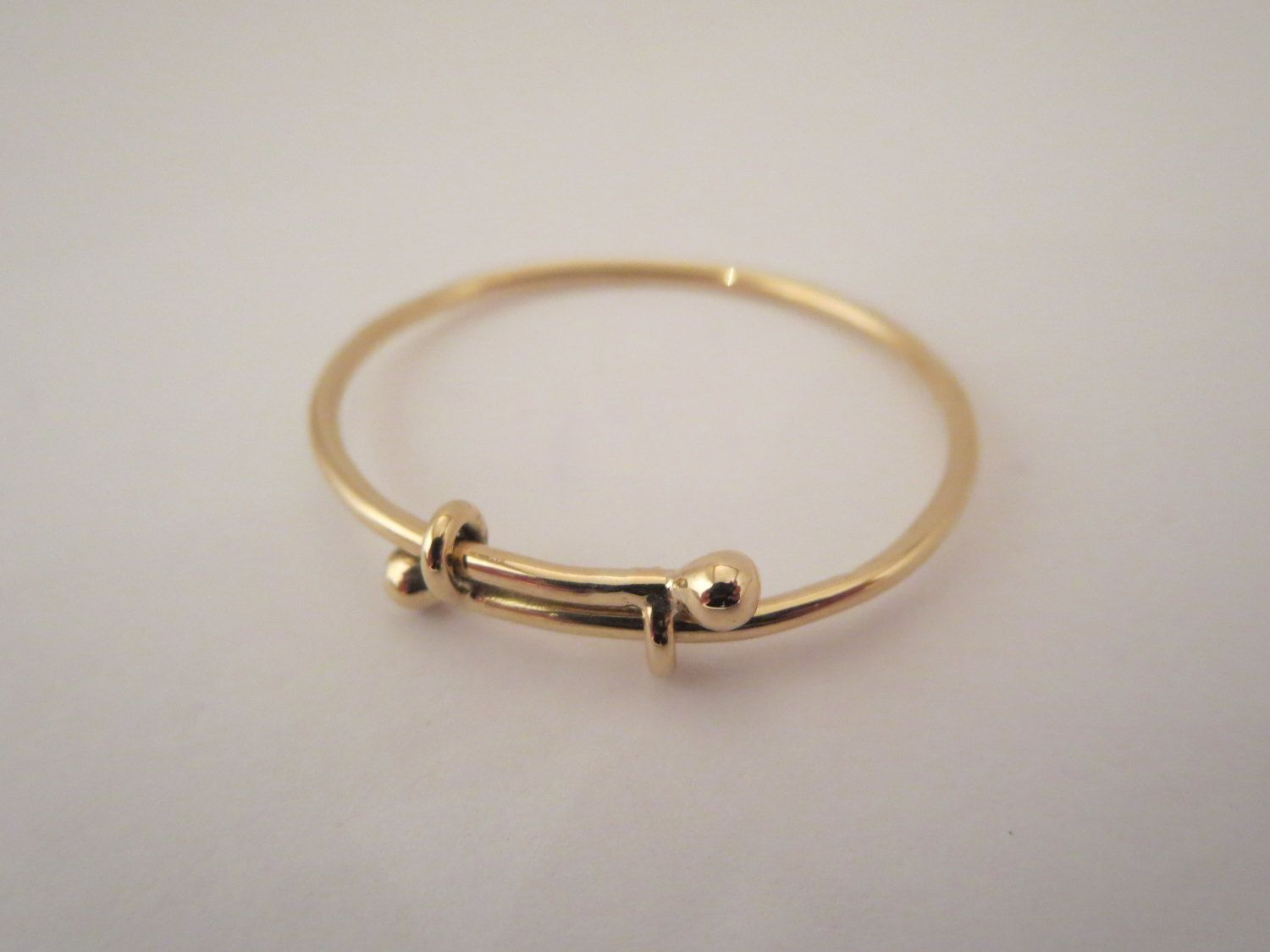 7bd9593f86c67 Adorable expandable baby bangle bracelet in solid 14k gold Extremely ...