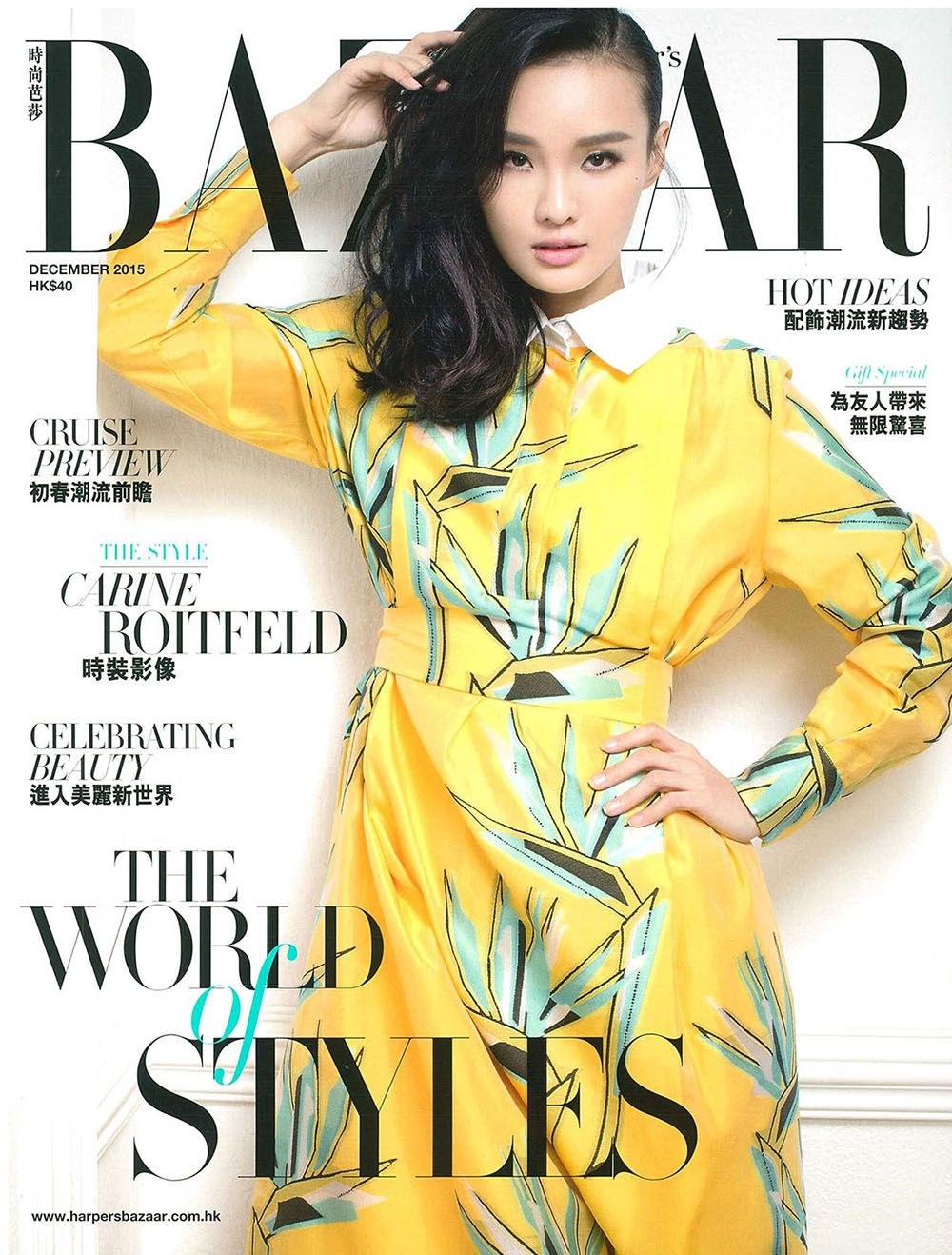 The signature fendi resort long dress spotted on the cover of