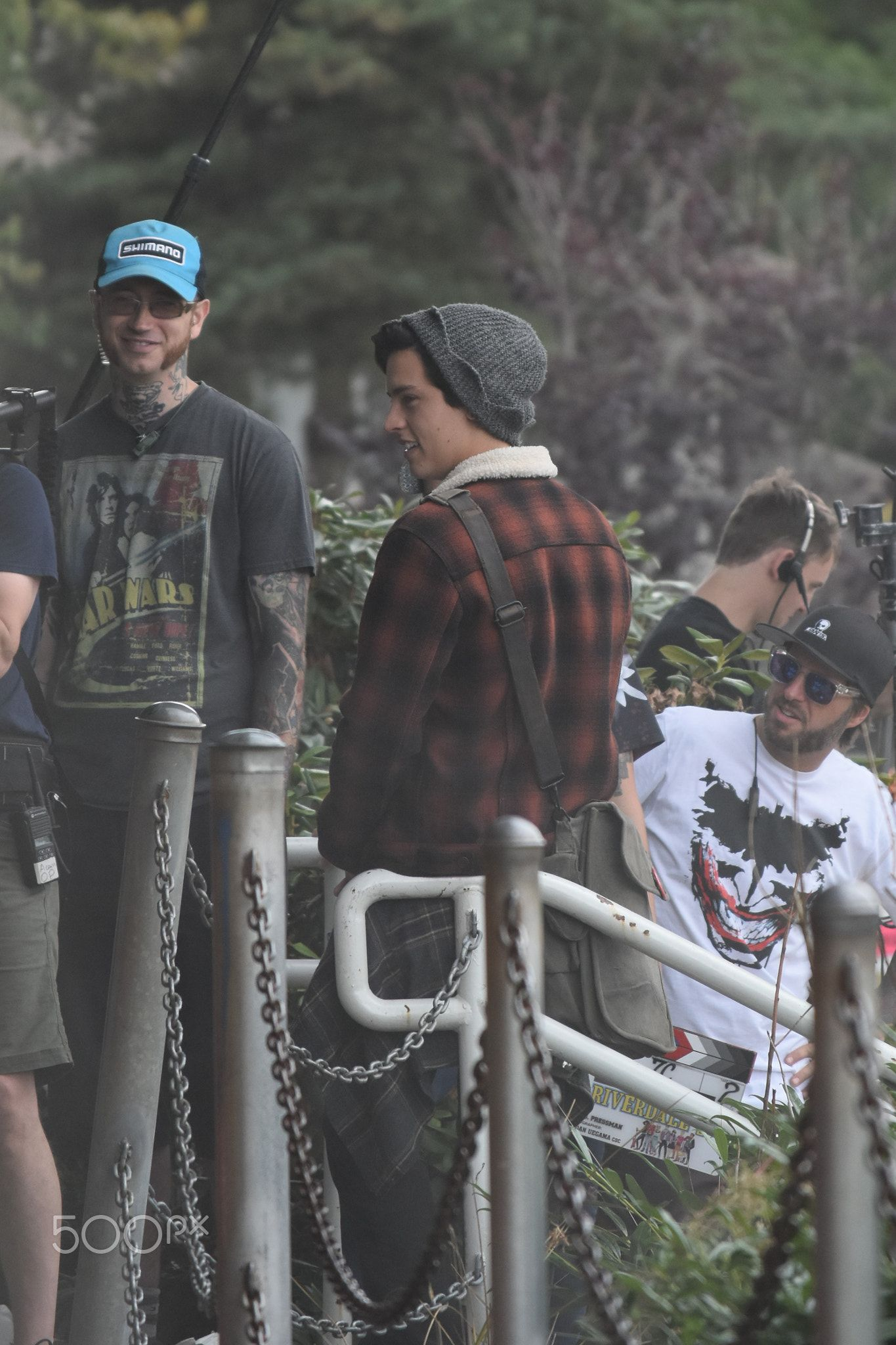 7ed35486 Cole Sprouse on set – LANGLEY, BC, CANADA. AUGUST 8, 2017 Cole Sprose who  plays Jughead on the television show Riverdale films a scene at James  Kennedy ...