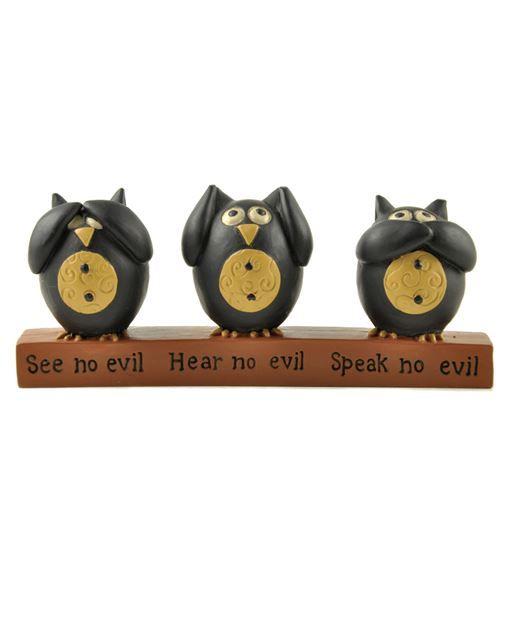 Hear, Speak, See no evil Owls
