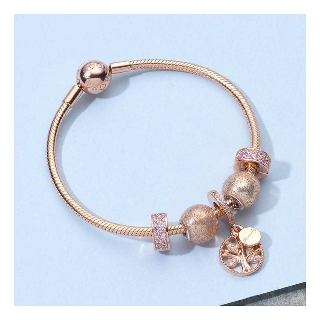 Pandora charms and bracelets dipped in rose gold is utter ...