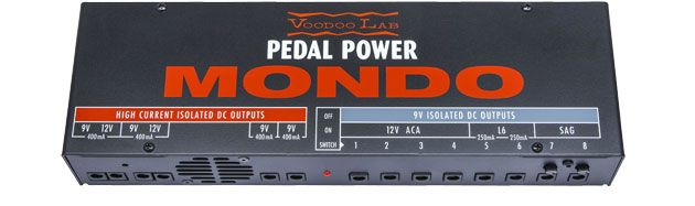 #VoodooLab Mondo Pedal Power.  Using this unit to power all my pedals. #pedalpower