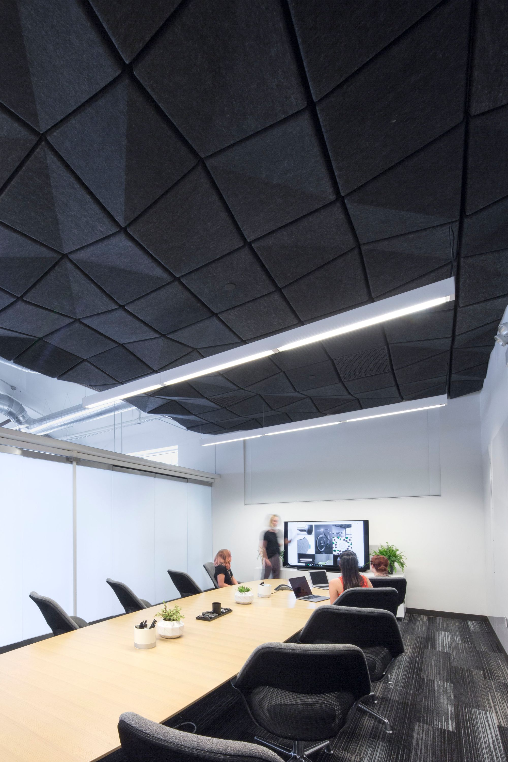 Turf Design Crease Ceiling System Is A Drop Ceiling Product Series That Transforms Interiors Thr Acoustic Ceiling Tiles Acoustic Ceiling Panels Ceiling Tiles