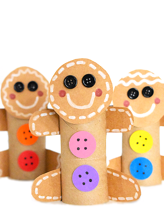 Photo of Cardboard Roll Gingerbread Man Craft