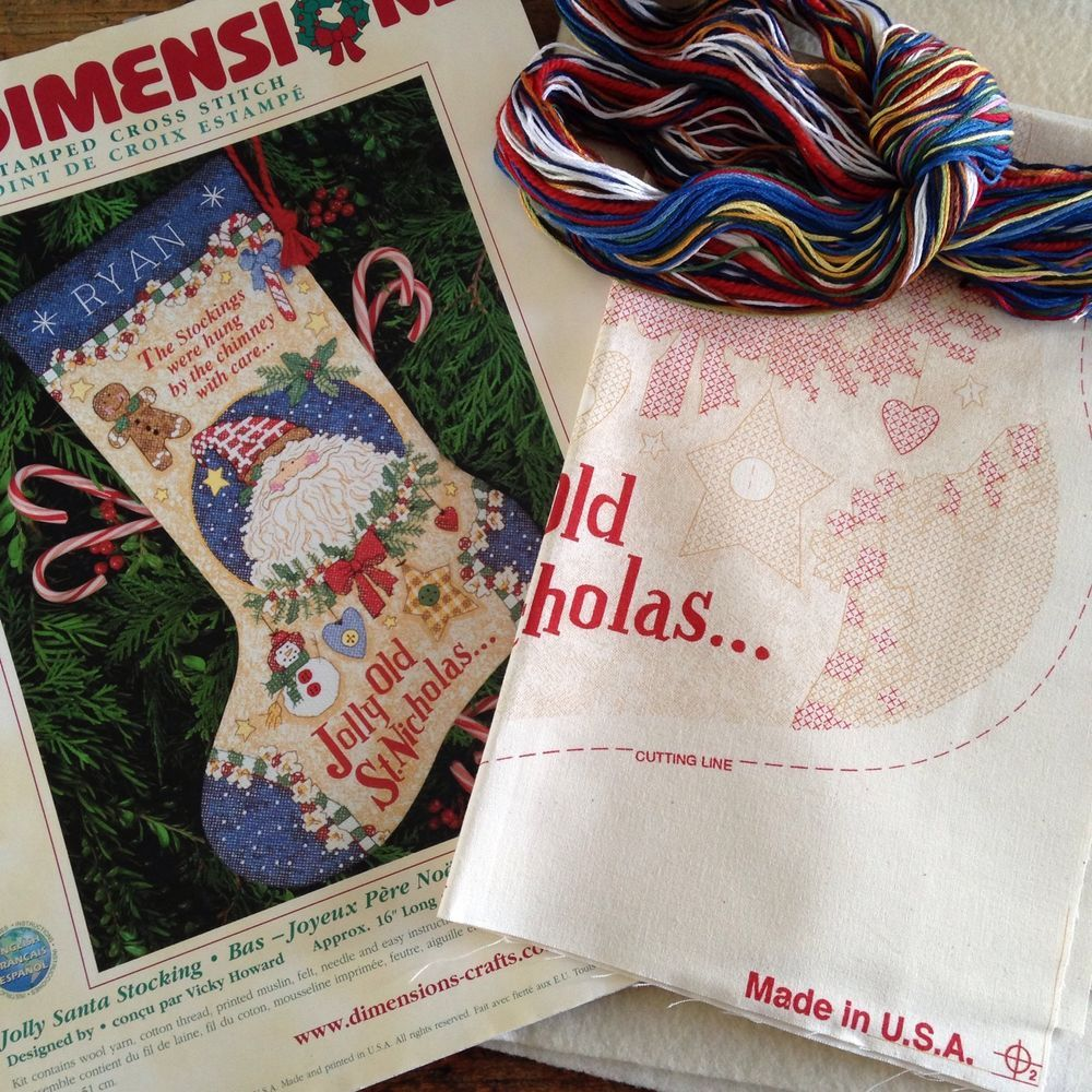 Details about Christmas Stocking Cross Stitch Kit Jolly