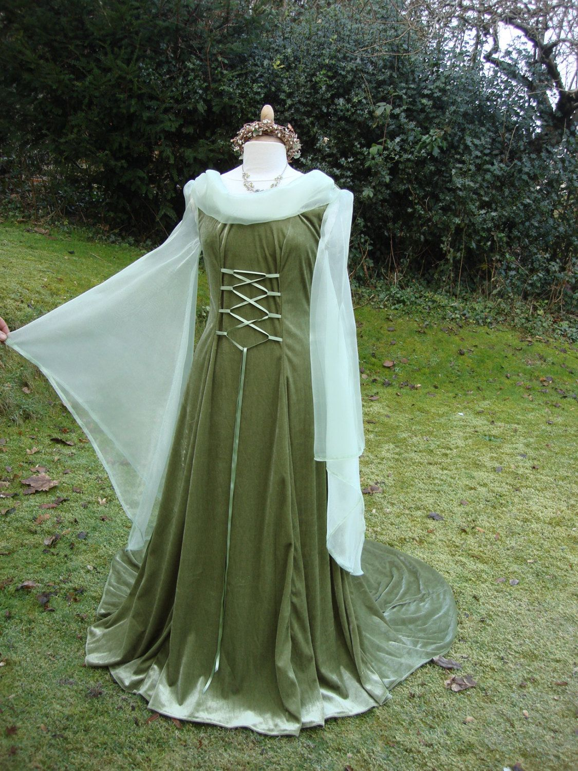 Fantasy Gown Renaissance Meval Pagan Celtic Handfasting Dress 8 To 14 By Wytchhaze On