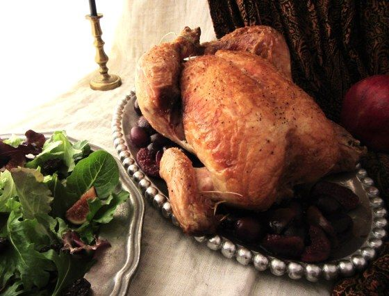 Photo of Capon with Grape-Fig Sauce, from The Lies of Locke Lamora