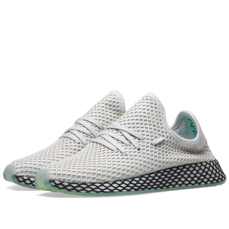 0e5354855 Adidas Deerupt Runner Grey   Clear Mint 1