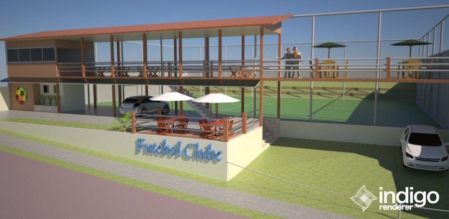 Projeto De Campo De Futebol Society Com Dimensoes De 45m X 25m