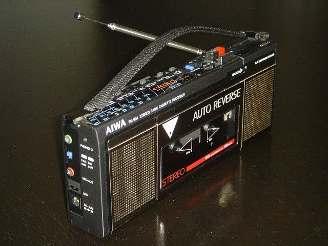 AIWA HS-J110 FM/AM STEREO RECORDER MINI CASSETTE BOOMBOX ~ SOLD #audiovideo