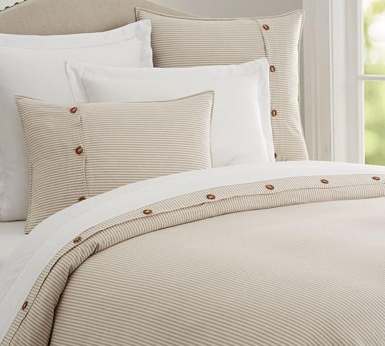 Wheaton Striped Linen Cotton Duvet Cover In 2021 Striped Duvet Striped Duvet Covers Linen Blend Duvet