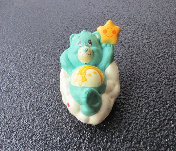 Wish Care Bear Mini Figure Vintage 1983 Wishing by LetsGoRetro1973