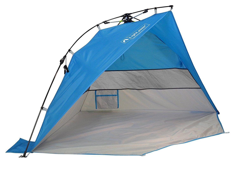 Lightspeed Outdoors Mini Pop Up Beach Tent Sun Shade Blue See