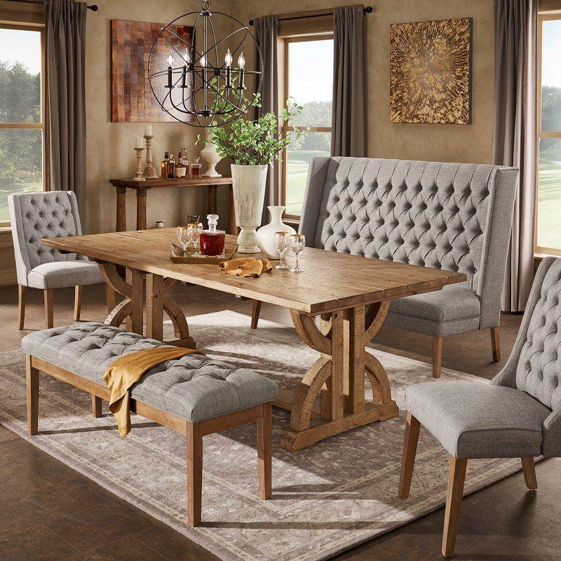 Lark Manor Valois Dining Table Reviews Wayfair Dining Room Design Dining Room Table Centerpieces Dinning Room Bench