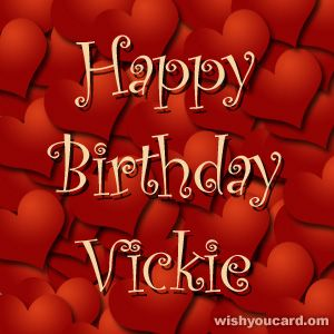 I hope you're loving all the birthday wishes you're receiving on your 60th birthday it's a big one so I hope you're celebrating happy birthday Vickie