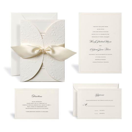 Embossed ivory wrap wedding invitation kit by celebrate it embossed ivory wrap wedding invitation kit by celebrate it stopboris Images