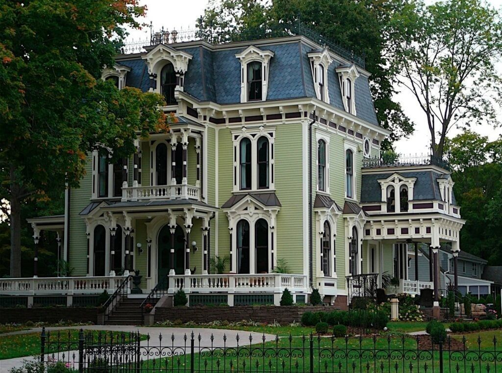 Perfect Victorian Style House With Navy Blue Exterior Color . Home Design Ideas