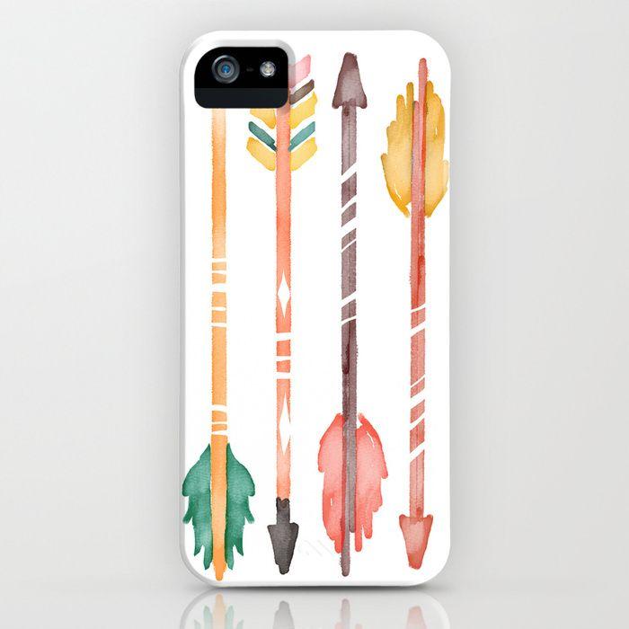 Watercolor Arrows iPhone & iPod Case by JunkyDotcom