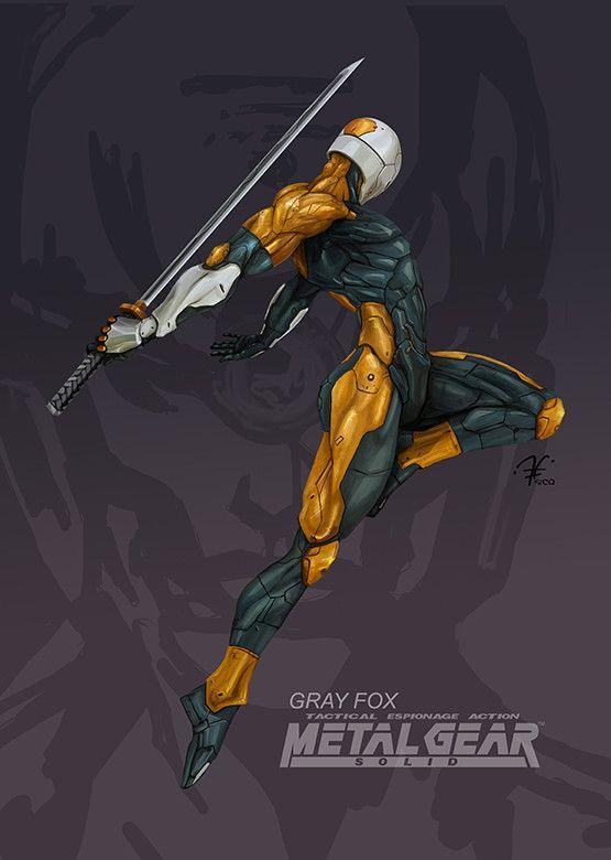 Gray fox - Metal Gear , Santiago Camacho on ArtStation at https://www.artstation.com/artwork/e3ZOD