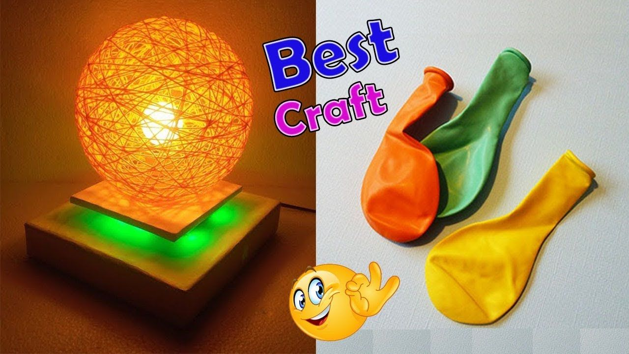 How To Make A Homemade Lampshade Pendent Lamp Wrapped Balloon Lamp
