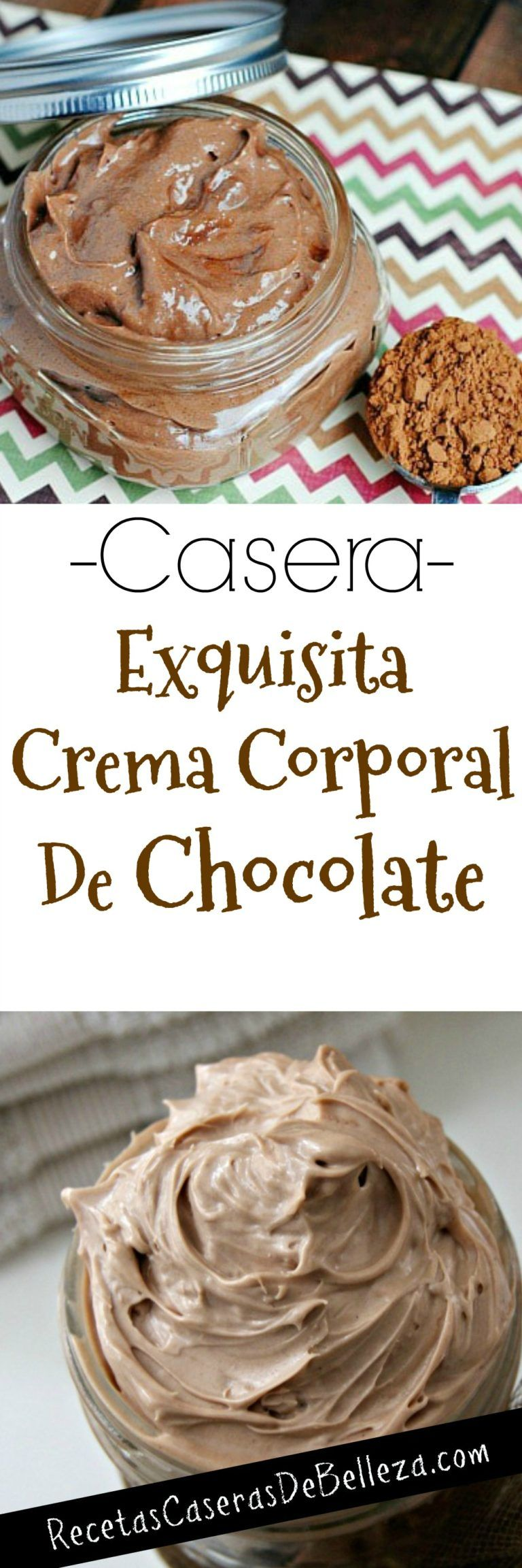 Crema Corporal Casera de Chocolate