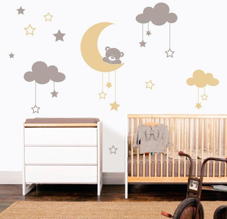 los vinilos decorativos infantiles ms bonitos y tiernos de internet decora la habitacin de tu peque con ositos mapamundis estrellasu