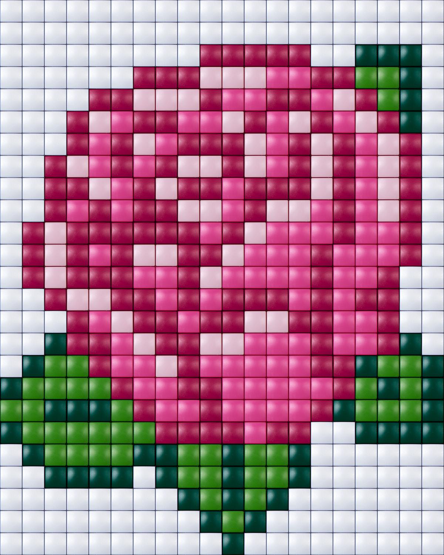 #pixelhobby #pixel #pixelen # Creative #beads #rose #roos