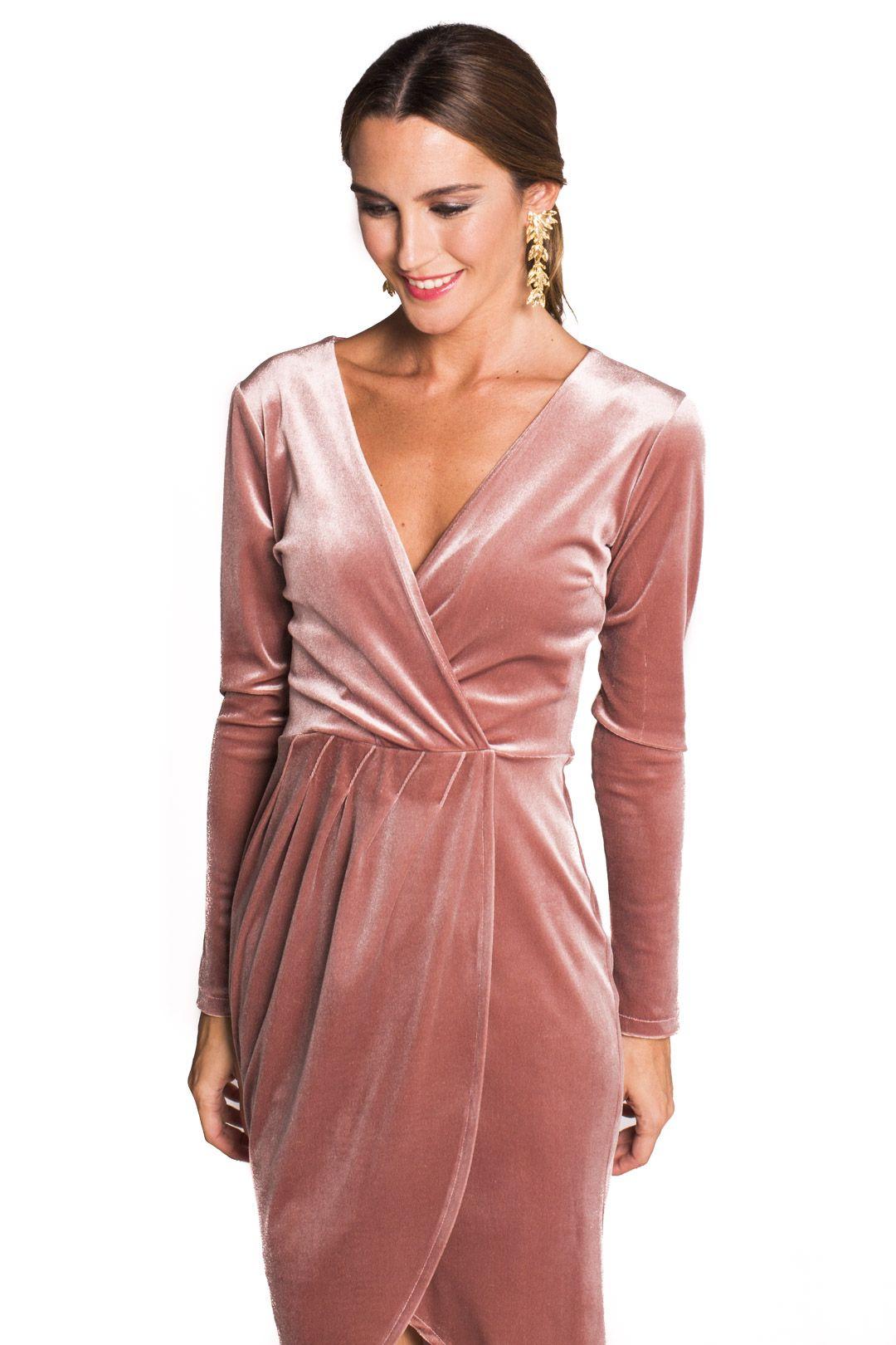 Vestido Crossing Velvet | boda | Pinterest | Vestido de terciopelo ...