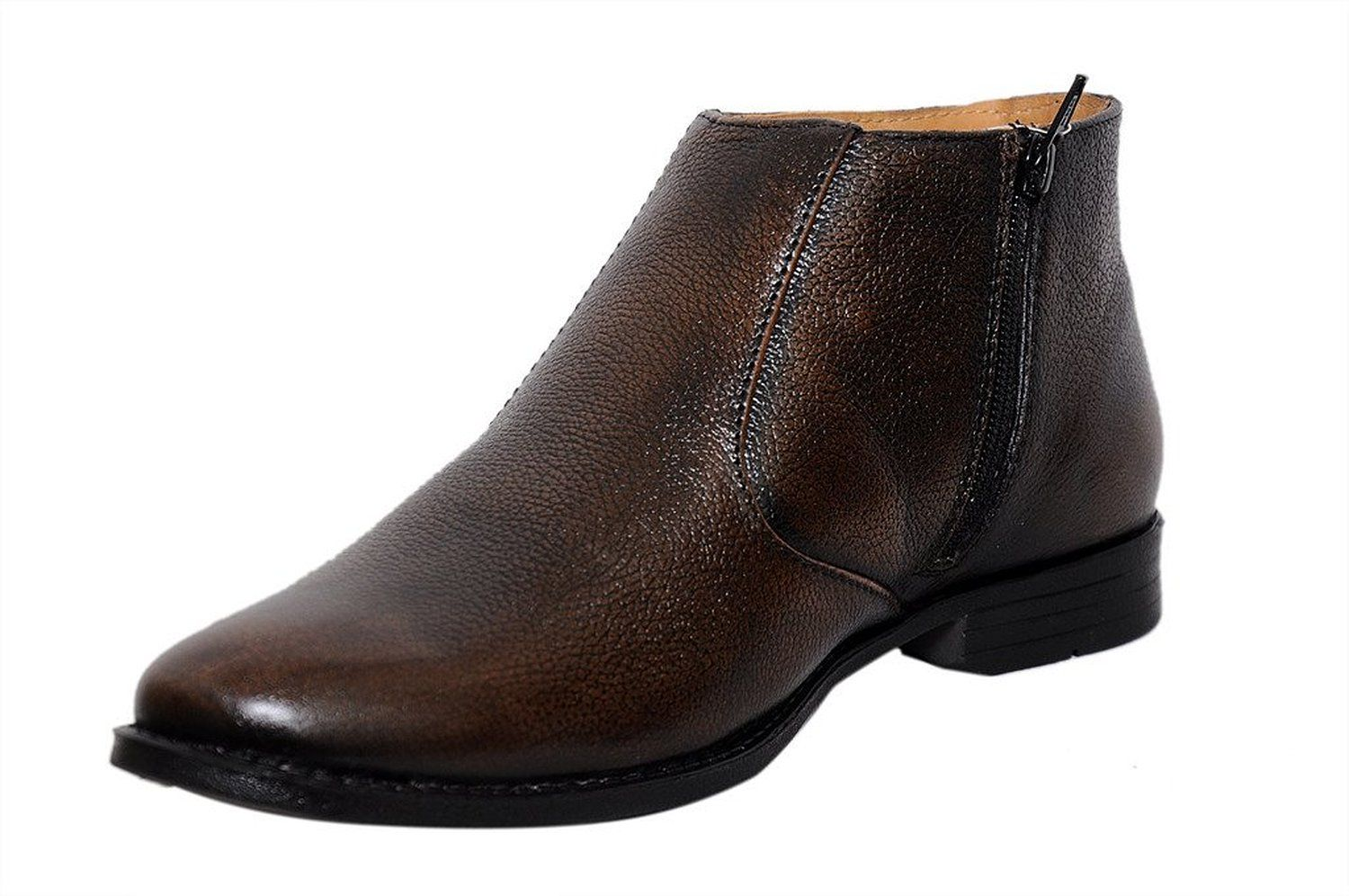 f53c566d642bcf Zoom Men's Pure Leather Formal Shoes B-61-Brown-7: Buy Online at Low ...
