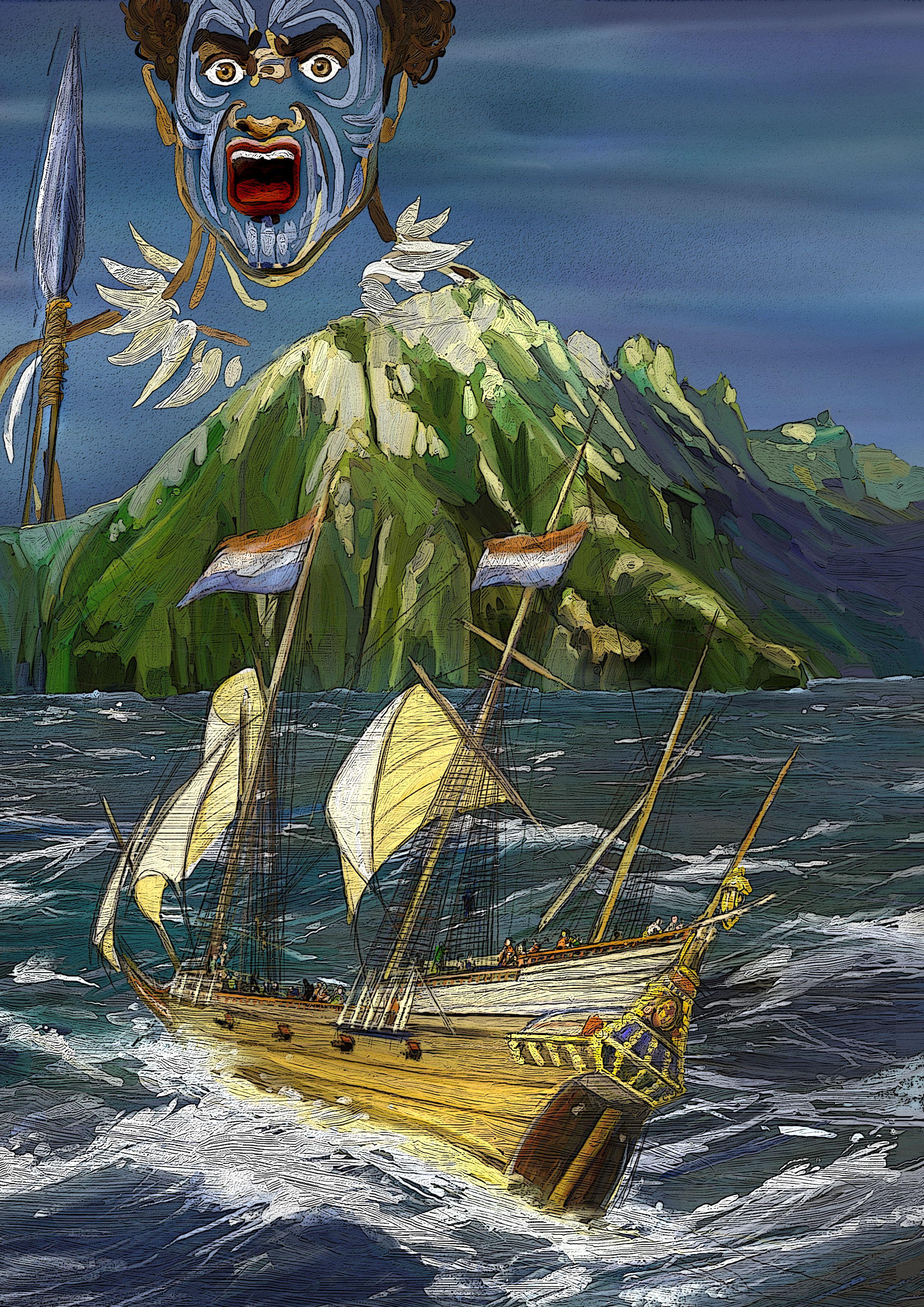 Coverillustration by Deborah Freriks. #capehorn #kaaphoorn #pacific #deborahfreriks #deborahfreriksillustraties