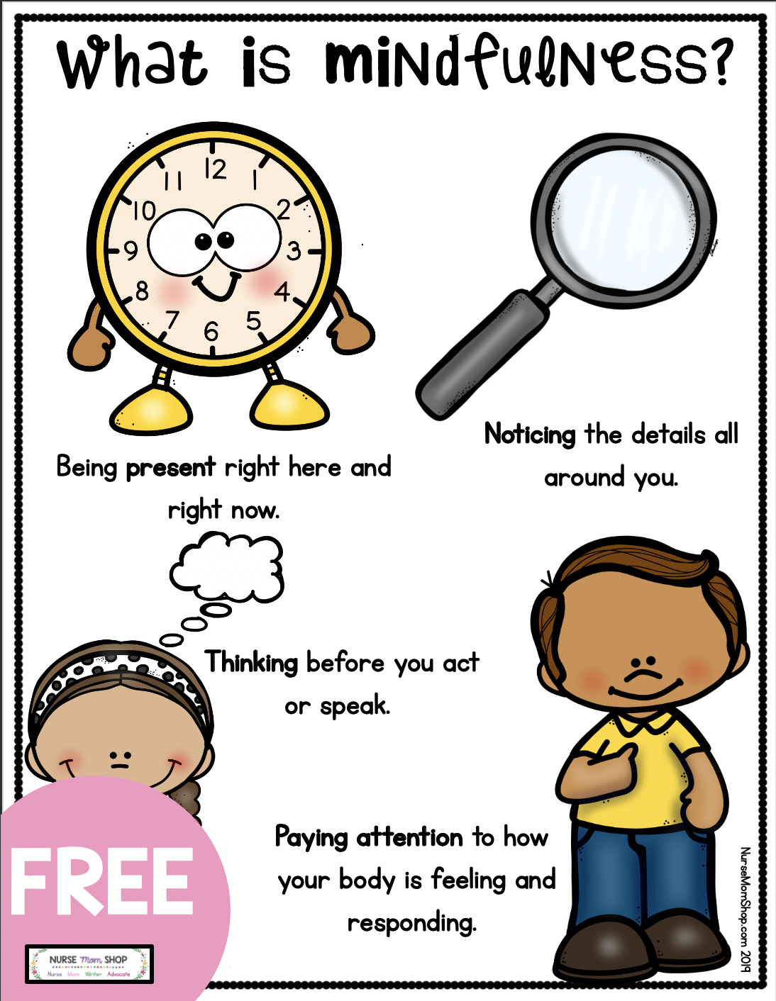 Free Mindfulness For Tools For Kids