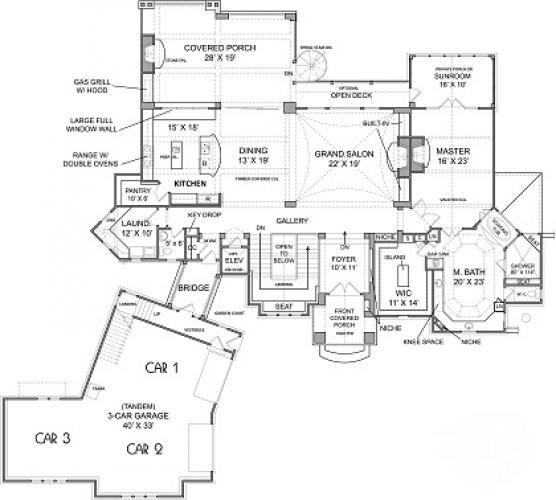 Keowee Lake Cottage House Plan Luxury Estate Mountain Tuscan