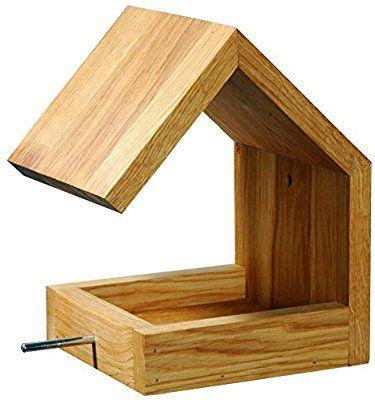 Luxus Vogelhaus 46850e Eichenholz Vogelfutterhaus Zum Aufhangen Mit Satteldach Und Anflugstange Amazon Vogelfutterhaus Vogelhaus Vogelfutterhaus Selber Bauen