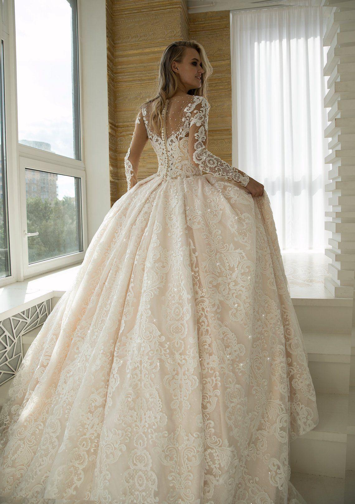 Elmis By Olivia Bottega Floral Lace Wedding Gown Wedding Etsy In 2021 Wedding Dress Long Sleeve Wedding Dresses For Girls Wedding Gowns Lace [ 1618 x 1140 Pixel ]