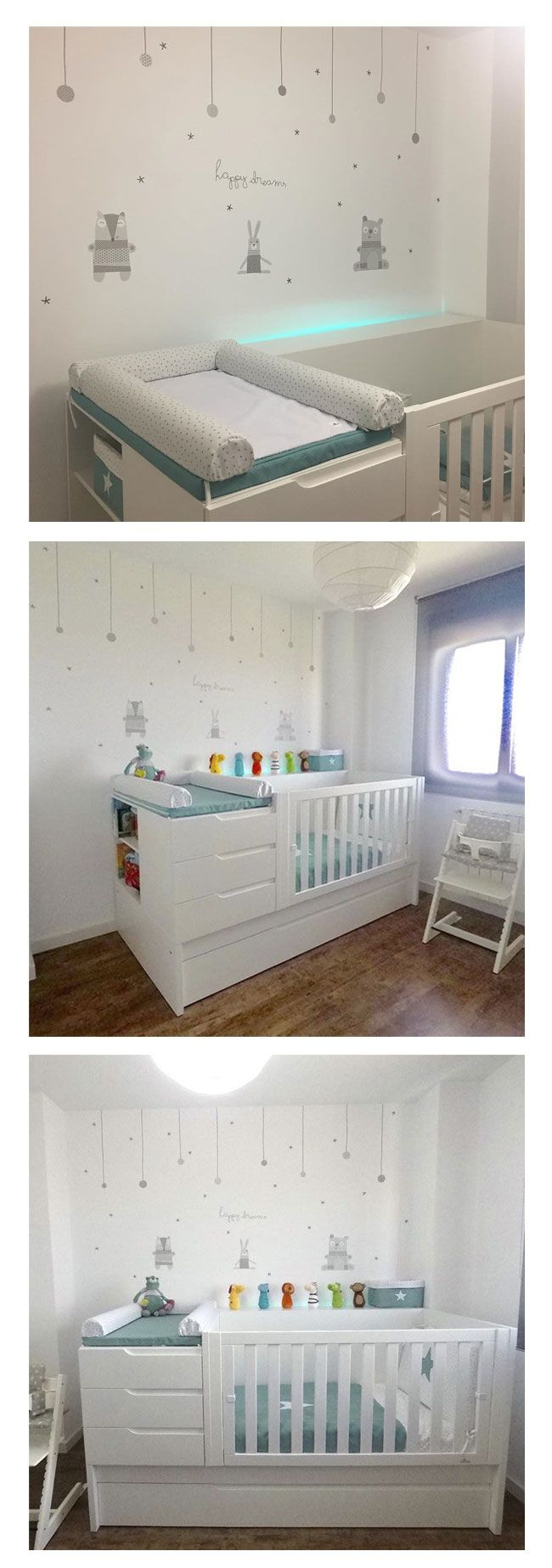 Preciosa la habitaci n de beb con la cuna convertible y - Habitacion convertible bebe ...
