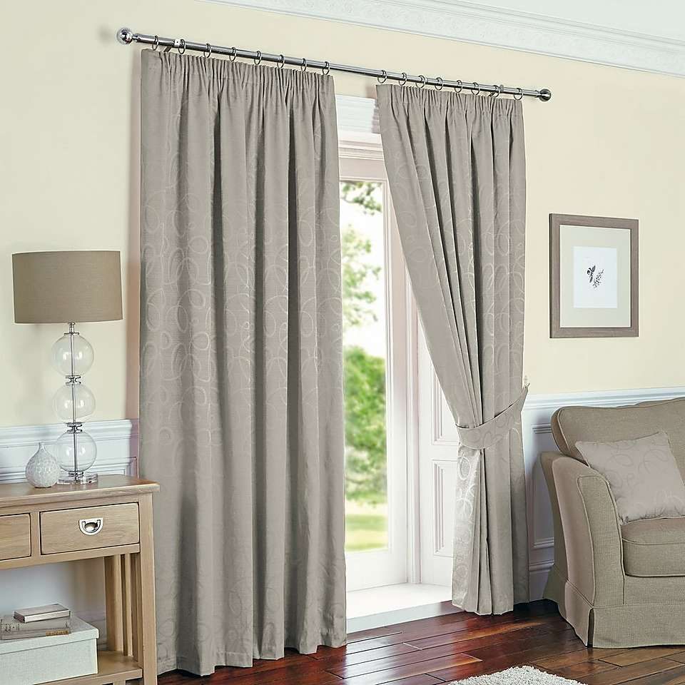 Silver Toledo Thermal Pencil Pleat Curtains